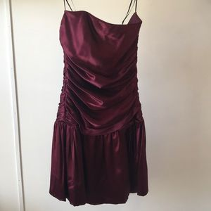 A.B.S. wine colored cocktail dress